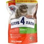 Корм сухий Клуб 4 лапи Преміум курка для дорослих котів 900г
