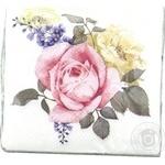Серветка 2 шари 33х33 квіткове тріо La Fleur 15шт