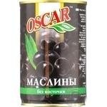 Маслины черные Oscar без косточки 300мл