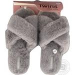 Twins Home shoes fake fur