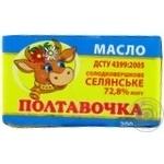 Масло Полтавочка Селянськое сладкосливочное 72.8% 200г