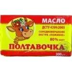Масло Полтавочка Питательное сладкосливочное экстра 80% 200г