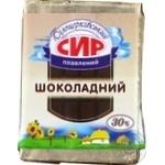 Сыр плавленый Белоцерковский Шоколадный сладкий 30% 90г Украина