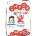 Slovianochka Cottage cheese for children with vanillin 15% 90g