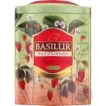 Чай Basilur колекція Магічні фрукти Суниця зелений цейлонський 100г