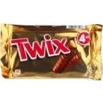 Печенье Twix Х4 в молочном шоколаде 4х50г