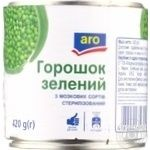 Aro canned green pea 420g