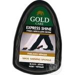 Губка Gold Care мини черная для придания блеска обуви