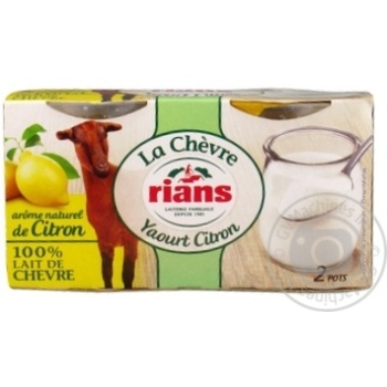 Йогурт Rians з козиного молока з лимоном 1,8% 240г - купити, ціни на Novus - фото 1