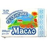 Масло Молокія Селянське солодковершкове еколін 72.5% 200г - купити, ціни на Фуршет - фото 3