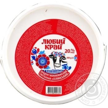Сметанный продукт Любый Край 20% 900г - купить, цены на Фуршет - фото 2