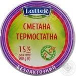 LatteR Lactose-free Sour Cream 15% 200g