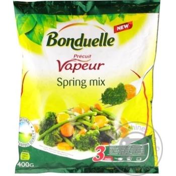 Овочева суміш на парі Bonduelle Весняна заморожена 400г - купити, ціни на МегаМаркет - фото 1