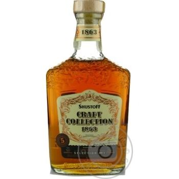 Shustoff Craft Collection 5yrs cognac 40% 0,5l - buy, prices for Novus - image 3