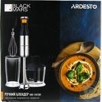 Блендер ручний Ardesto HBK-1601BR 900Вт подрібнювач,віничок,чаша 0,6л срібл.-чорний