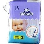 Подгузники Panda Midi 5-9кг 15шт
