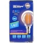 Лампа LED Lamp Іскра P45 220В 4Вт 3000K E14 Filament пр