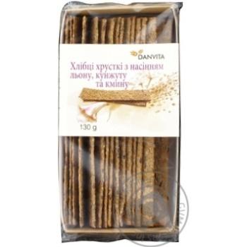 Хлебцы Danvita хрустящие с семенами льна-кунжута-тмина 130г