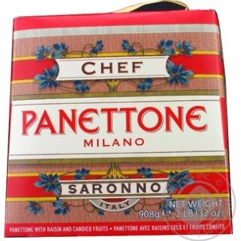 Кекс Chef D'Italia Панеттоне клаcсичес изюм-цукат 908г