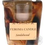 Свічка арома стопка сандал,бежева Feroma Candle