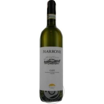 Вино Marrone Gavi DOCG белое сухое 12,5% 0,75л - купить, цены на Фуршет - фото 2