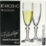 Набір бокалів для шампанського Krosno PRESTIGE CASTELLO, 180мл, 6 шт., F579326018001010