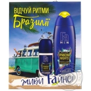 Набір Fa Men Ipanema Nights гель для душу 250мл+дезодорант50мл шт - купити, ціни на Novus - фото 1