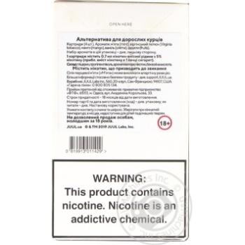Картридж Juul Virginia Tobacco 5% П4 - купити, ціни на Novus - фото 2