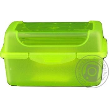 Ланч-бокс Keeeper Click-Box пластиковый прямоугольный зеленый 0,35л