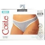Трусы Conte Elegant Basic grey melange женские 102/XL
