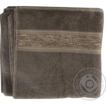 Рушник махровий FLUFFY коричневий 100%бав 70х130см 550г/м2 16/1