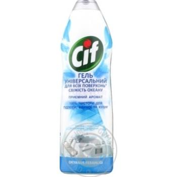 Крем для чистки Cif свежесть океана 750мл - купить, цены на Метро - фото 3