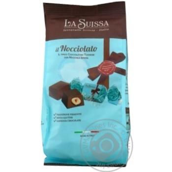 Конфеты La Suissa Il Nocciolato шоколадные с целыми ядрами ореха фундука 120г