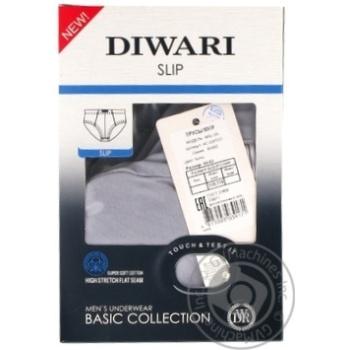 Труси чоловічі DiWaRi Basic Msl 128, розмір 110,114/XXL, fumo - купить, цены на Novus - фото 1