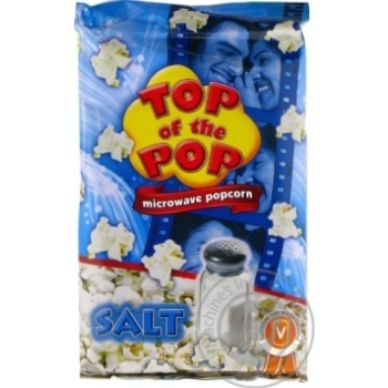 Top of Pop Salt Flavor Popcorn for Microwave Oven 100g - buy, prices for Novus - image 2
