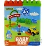 Конструктор Wader Baby Blocks мои первые кубики 30шт