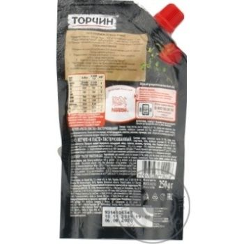 Torchin Pasta Ketchup 250g - buy, prices for Novus - image 3