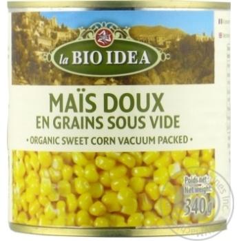 Кукурудза MARKAL солодка консервована органічна 340г