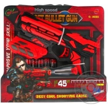 Іграшкова зброя Бластер 6-зарядний Арт. FJ801 - купить, цены на МегаМаркет - фото 1