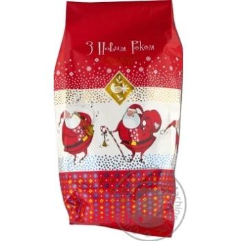 Новогодний подарок Житомирские ласощи Веселых праздников Дед Мороз 500г