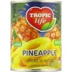 Pineapple rings Tropic life 580ml