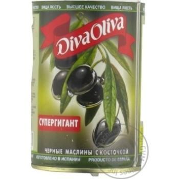 Маслини Diva Olivia Супергігант с/к з/б 400г x12