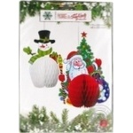 Koopman Santa And Snowman Hanging Decoration 2pcs