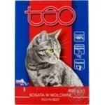 Корм для котов Teo с говядиной сухой 400г