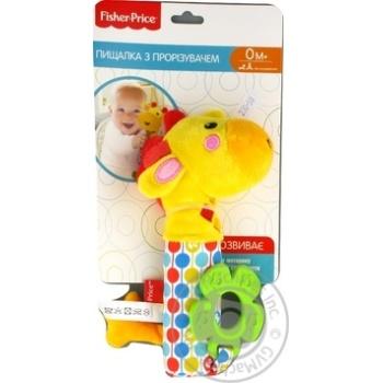 Іграшка пискавка з прорізувачем арт. GH73100 Жирафа Fisher Price - купить, цены на МегаМаркет - фото 2