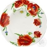 Тарелка Красные маки декорированная 23см