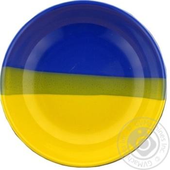 Тарілка глибока д185 2990/428/120 синьо-жовтий