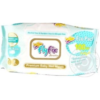 Салфетки Fly FIx детские влажные 100шт - купить, цены на МегаМаркет - фото 1