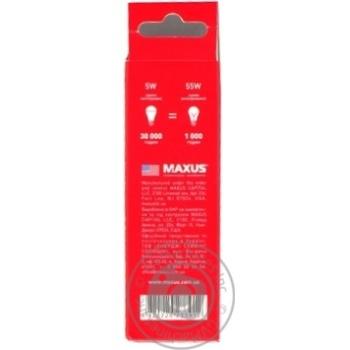Лампа світлодіодна Maxus 1-LED-732 C37 5W 4100K 220V E14 - купить, цены на Novus - фото 3