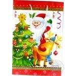 Пакет подарунковий 31 Бв Світ поздоровлень паперовий 368*246*86мм